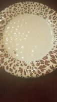 cheetah plastic plates set of 6