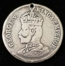 Rare 1911 King George V Coronation Great Britain UK Token Jetton Coin Medal