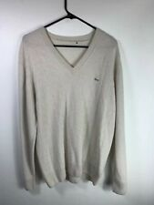 BNWT Lacoste Blue Cashmere V-neck Sweater Size XL 100/% Authentic AH5122