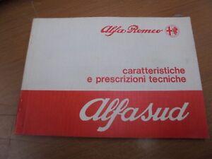 ALFA ROMEO ALFASUD 1° SERIE MANUAL LAS ESPECIFICACIONES Y REQUISITOS TECNICHE