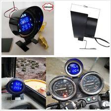 DC12V/24V Car LCD Digital Voltmeter Water Temp Gauge Meter With Sensor & Bracket