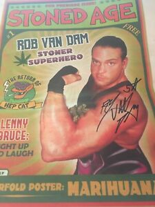 STONED AGE - HAND SIGNED RVD NEWSPAPER