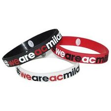 Tris Braccialetti in gomma We Are AC Milan