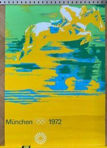 Plakat / Poster Olympische Spiele München 1972 Otl Aicher DIN A1 Reiten