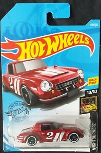 HOT WHEELS 2018  FAIRLADY 2000, RED, LONG CARD .