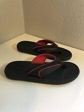 DC Shoes Kids Fliop Flops Size 6 Sandals Kids Red & Black New