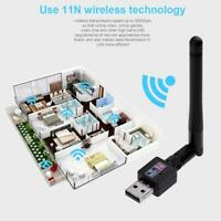 300M USB 2.0 WiFi Wireless Network Card 802.11b/g/n LAN Adapter Antenna