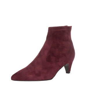 RRP €120 CARMENS Suede Leather Ankle Boots EU 37 UK 4 US 7 Heel Made in Italy