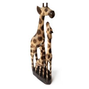 Family of Giraffes Hand Carved Albesia Wood Ornament Fair Trade