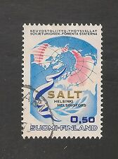 Finland #501 Vf Used - 1970 50p Salt - Globe, Maps Of Us, Finland & Ussr