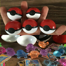 5 pcs/lot Pokemon Ball With Figure Pokeball Crystal Pet Stickers Kid Gift Toy