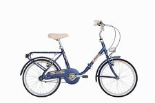 "Bicycle Atala Fiorella 20 "" 2018 Foldable Women's Graziella Vintage Blue"