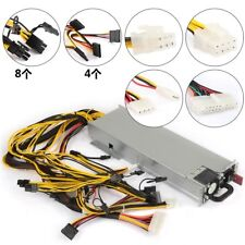 1200W Watt Switching Power Supply for GPU Open Rig Mining Ethereum