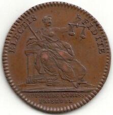 Jeton Louis XV corporation des huissiers, commissaires-priseurs s.d.