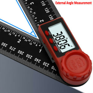 """7in"""" 2 in1 Digital Protractor Angle Finder Ruler for Crown Trim Woodworking UFF"""