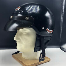 HARLEY DAVIDSON MOTORCYCLE HELMET XS model XT 6 and 5/8 to 3/4 black Loud Pipes