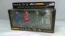 HALO 3 Master Chief Collectors Action Fig Set KUBRICK Gentle Giant X box 360