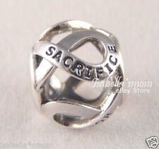 SACRIFICE~SERVICE Authentic PANDORA Ribbon Military ARMY Pride CHARM 791264 NEW