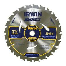 "Irwin 24030 2 PK MARATHON SAW BLADE 7-1/4"" 24T Carbide Tipped (Pack Of 2)"