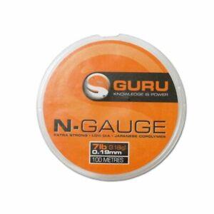 Guru N-Gauge Rig Line 100m Spool *New* - Free Delivery