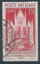 1936 VATICANO USATO SAMPA CATTOLICA 75 CENT - RR3802