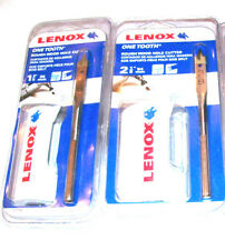 2 LENOX ONE TOOTH ROUGH WOOD HOLE CUTTER HOLE SAW DRILL SET HIGH SPEED STEEL