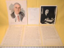 ULTRA RARE FDR SPEECH DRAFT~JANUARY 30, 1945 MARCH OF DIMES ~WORKING DRAFT w/LOA