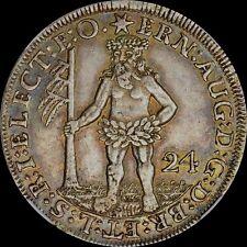 NGC XF45 GERMANY WILDMAN 1694 24 MG 2/3 TALER NGC XF45 1694 WILD MAN TONED GOLD