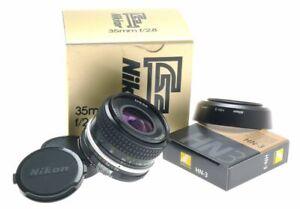 AI NIKON 35mm f/2.8 SLR CAMERA LENS 2.8/35mm FITS DF DIGITAL N-3 HOOD CAPS