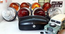 Land Rover Series 2a Lucas L594 Glass Lens External & Number Plate Lights Set