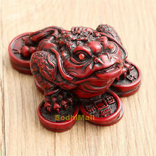 Red Feng Shui Small Three Legged Money Fortune Toad