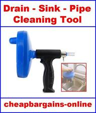DRAIN SINK CLEANER TOOL PLUMBING DRAIN CLEANER AUGER SINK SHOWER PIPE HAND TOOL