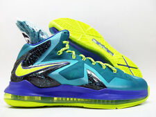 "NIKE LEBRON X P.S. ELITE ""SUPERHERO PACK"" TURQ/VOLT MEN'S 10.5 [579827-300]"