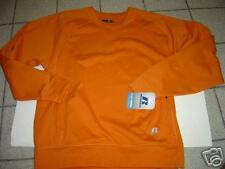 NEW MENS RUSSELL ATHLETIC ORANGE DRI FIT W/CELL POCKET SWEATSHIRT SIZE M