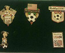 FIFA USA WORLD CUP SOCCER 1994 MASCOT & LOGO 5 METAL COLLECTIBLE PIN SET