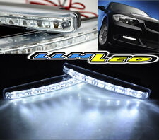 UNIVERSAL HELLA STYLE 7000K 8 LED CREE SMD DRL DAYTIME RUNNING FOG GRILLE LIGHT