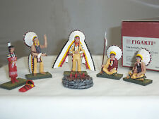 FIGARTI JU5101 US WILD WEST AMERICAN INDIAN SIOUX COUNCIL FIRE + FOUR CHIEFS SET