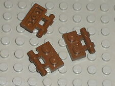 3 x LEGO OldBrown Plate 1 x 2 with Handle 2540 / Set 7203 7316 7163 7171 7166...