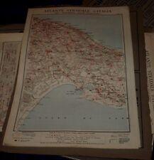 BARI - TARANTO 1925 ATLANTE STRADALE D'ITALIA TCI Foglio n. 36