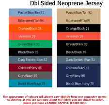 Double Sided Neoprene Jersey (Purchase 0.5 Metre or 1 Metre)