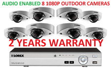 LOREX Security Camera System 16 Channel 1080P 3TB HD DVR 8 Cameras AUDIO ENABLED