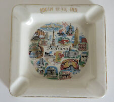 "Vtg South Bend Indiana Ashtray Tobacciana 4.5"" Across"