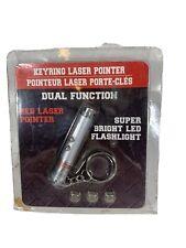 Key Ring Laser Pointer Bright Red Led Power Point Flashlight Cat Dog Pet Toy New