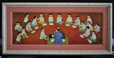 MAI TRUNG THU (Vietnam, 1906-1980) Serigraph Print on Canvas - THE CLASSROOM