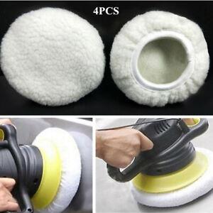 "4x 9 -10""Type Soft Wool Microfiber Buffing Pad Polishing Buffer Polisher Polish"