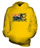 SOUTH AUSTRALIA DISTRESSED FLAG UNISEX HOODIE TOP AUSTRALIAN JERSEY GIFT