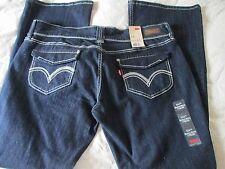 LEVI'S Ultra Low Rise,Boot cut,Skinny Stretch Cotton Blend Dark denim 17 M /33