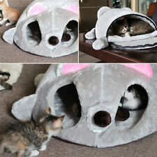 Cartoon Mouse Cat Cave Pet House Cushion Nest Soft Cozy Mat Sleeping Bed Lgloo