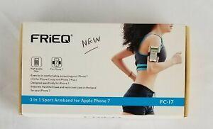 FRiEQ 3 In 1 Black Sport Armband For Apple 7 Brand