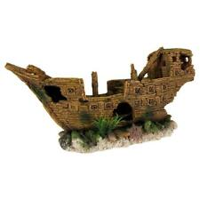 Trixie Shipwreck Aquarium Fish Tank Decoration Boat Ornament with Plants - 36 cm